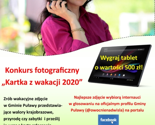 Plakat Kartka z wakacji 2020