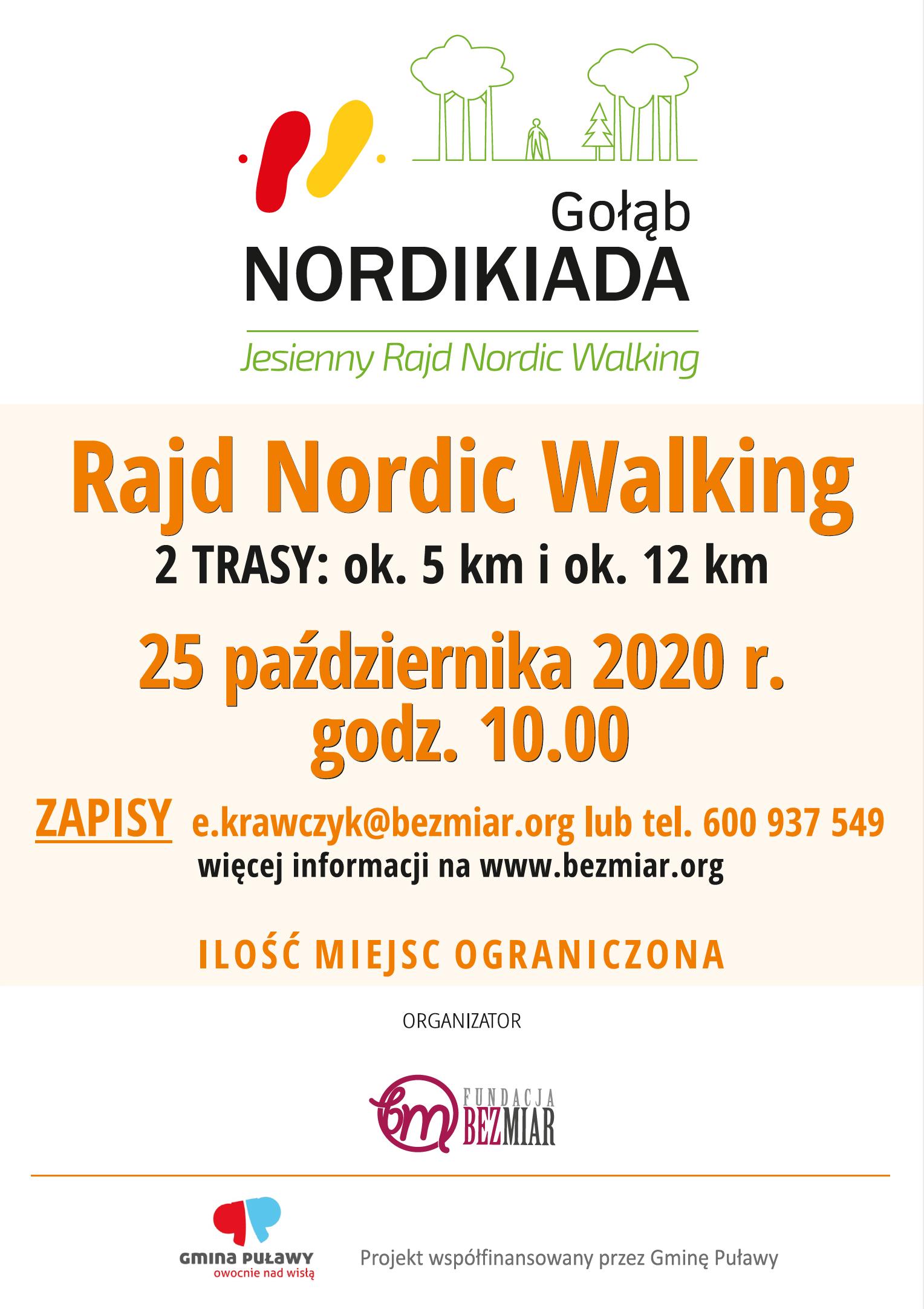 Jesienny Rajd Nordic Walking - Gołąb 2020