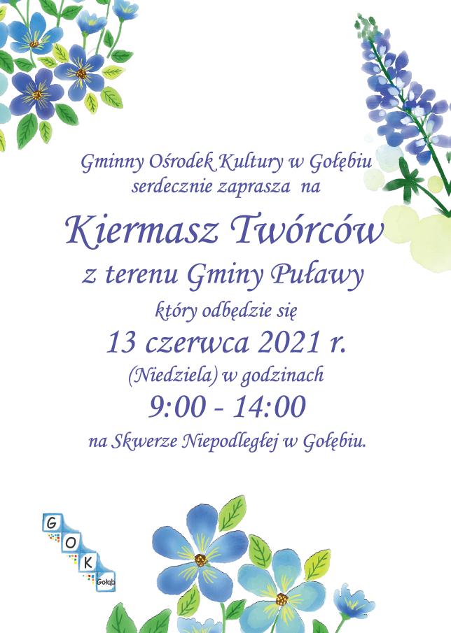 Gminny Ośrodek Kultury w Gołębiu serdecznie zaprasza na Kier