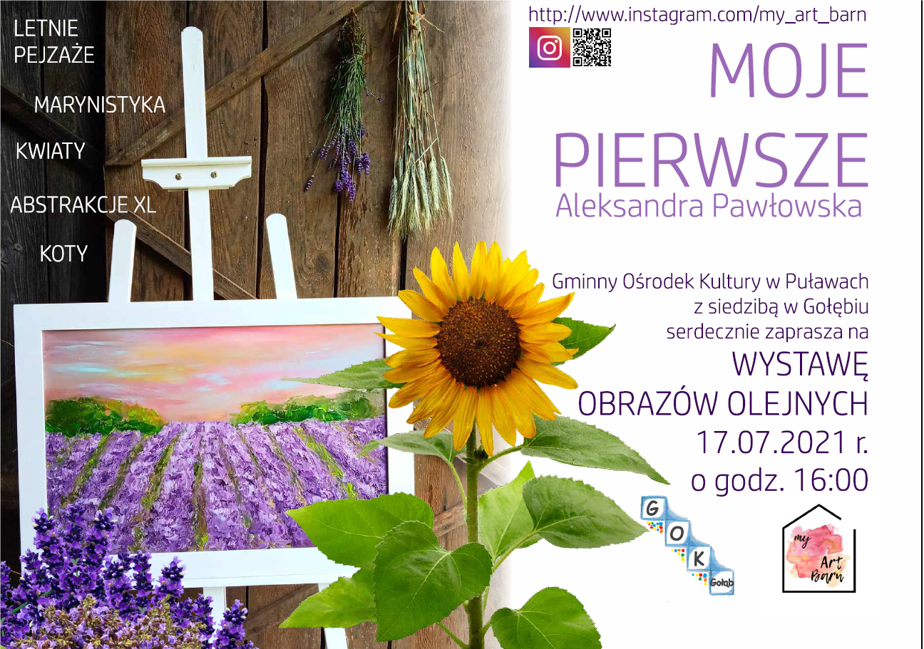 Zaproszenie na wernisaż wystawy Aleksandry Pawłowskiej